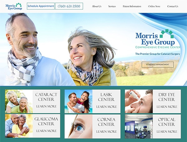 Ophthalmology, Optometry, and LASIK Website Design