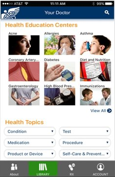 Health Library Mobile App - Medical Site Solutions